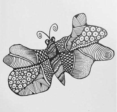 sommerfugl zentangle